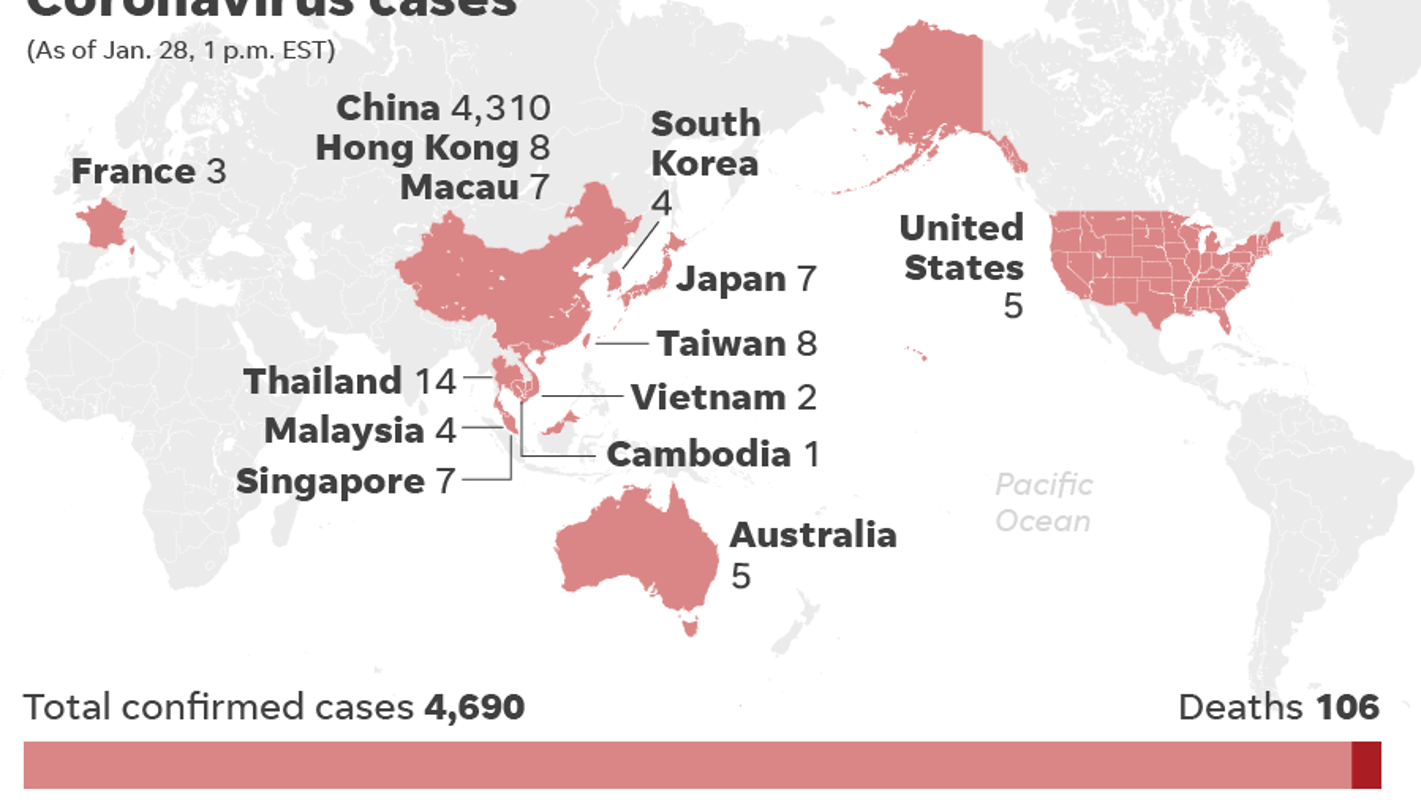 how many confirmed cases of coronavirus in us