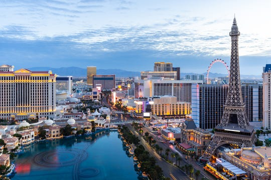 Las Vegas: Sin City is the most searched domestic destination for couples looking for a weekend getaway, according to Expedia. It also ranks high with Booking.com users.