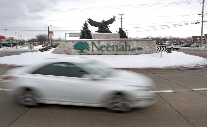 The west side of Neenah, shown here at the roundabout on Winneconne Avenue and Green Bay Road, has far fewer representatives on a Citizens Advisory Committee than the east side of the city.