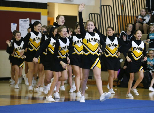 Southern Regional Middle School cheerleaders Rams Invitational cheerleading competition held at Southern Regional High School, Sunday, January 26, 2020. Manahawkin,NJ.  Noah K. Murray-Correspondent/Asbury Park Press