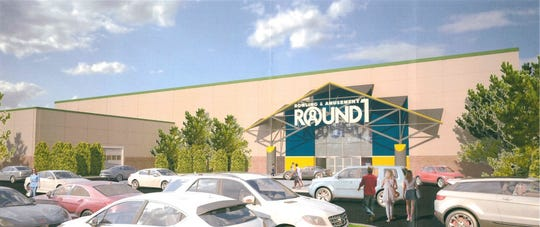 The proposed rear of Round1 in the former Sears store at the Freehold Raceway Mall in Freehold Township.