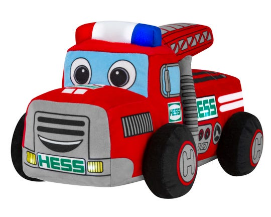 The 2020 plush Hess truck is ready to play with your baby.
