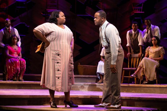 "Chedra Arielle and Brandon A. Wright in ""The Color Purple,' coming to the State Theatre in New Brunswick."