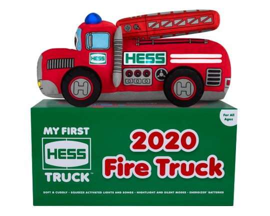 """""""My First Hess Truck"""" is soft and squishy."""