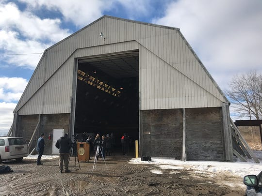 A s former salt storage facility at the residential drop-off site at the Broome County landfill will hold Taylor Garbage's recycled materials before it is transported by Broome County to a processing facility.