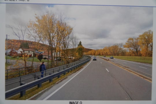 An artist's rendering the the proposed Binghamton Greenway extension near Rush Avenue .