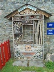 "This photo of an ""Insect Hotel"" was taken at the Vandeleur Walled Garden in Ireland. Mary Lee is using it as inspiration to create her own insect hotel, ""A Minor Insect Hotel."""