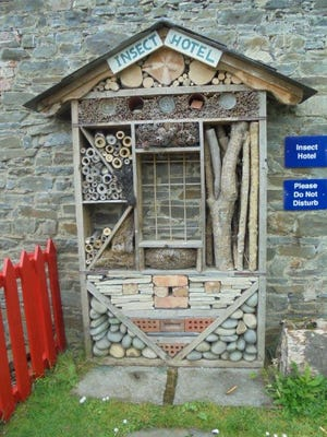 """This photo of an """"Insect Hotel"""" was takenat the Vandeleur Walled Garden in Ireland. Mary Lee is using it as inspiration to create her own insect hotel, """"A Minor Insect Hotel."""""""
