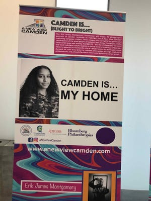 A poster shows Erik James Montgomery's vision for A New View Camden.
