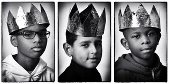 Three boys captured in portraits by Erik James Montgomery, a Camden-based fine art photographer.