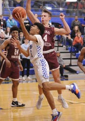 Chillicothe's Tre Beard goes up for a layup during a 58-54 loss to Canal Wincheser on Tuesday Jan. 28, 2020 at Chillicothe High School in Chillicothe, Ohio.