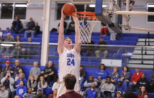 Chillicothe's Brandon Noel dunks the ball during a 58-54 loss to Canal Winchester on Tuesday Jan. 28, 2020 at Chillicothe High School in Chillicothe, Ohio.