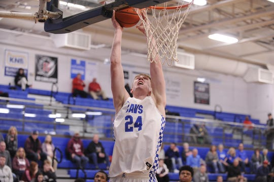 Chillicothe's Brandon Noel goes up for a layup during a game against Canal Winchester on Tuesday Jan. 28, 2020 at Chillicothe High School in Chillicothe, Ohio.