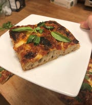 The foccacia-style pizza featured at Secret Pizza night at Collective Espresso's Findlay market location