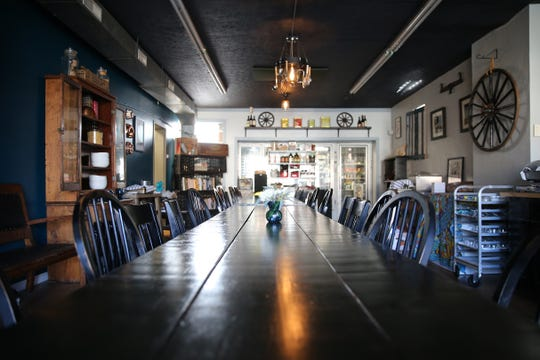 View of the dining room annex of The Wheel, where pop-up dinners are hosted, pictured, Tuesday, Jan. 21, 2020, at The Wheel in Cincinnati's Oakley neighborhood.