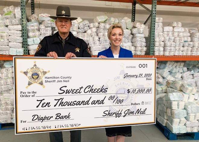 Sheriff Jim Neil and Sweet Cheeks founder and CEO Megan Fischer announced the launch of a partnership Wednesday.