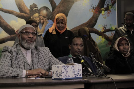 """Creative Visions, a Des Moines community activist group, helped raise $5,000 to bring an 18-year-old, Abdullah """"Abdi"""" Sharif home after he went missing nearly two weeks prior. Creative Visions founder, Ako Abdul-Samad, sat next to Sharif's uncle Ahmed Hashi and mother Fatumo Ahmed as they announced the reward at a news conference Wednesday afternoon."""