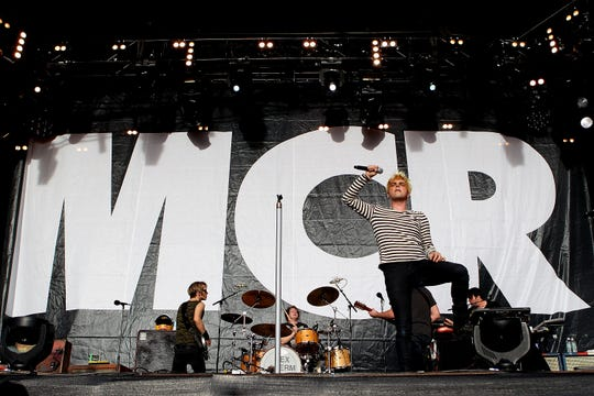 Gerard Way of My Chemical Romance performs at the Gold Coast Parklands on Jan. 22, 2012, in Gold Coast, Australia.