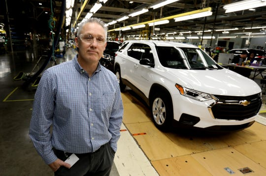 Matt Sedlarik, General Motors US Safety Group Manager. inside the Lansing Delta Township Assembly Plant this month in Delta Township.