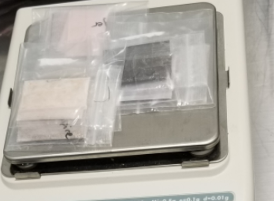 These plastic baggies are part of a 2019 fentanyl seizure by the U.S. Customs and Border Protection Detroit field office, which made a record number of fentanyl seizures that year: 10.5 pounds, enough to kill 1.5 people.