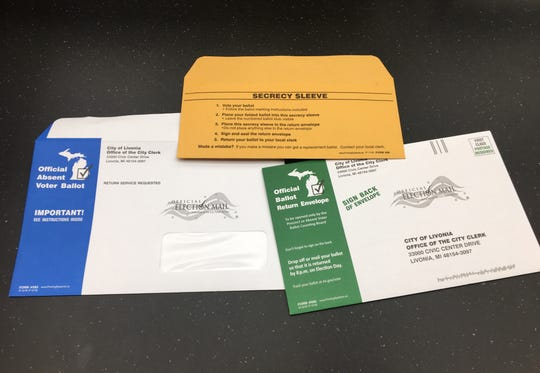 Absentee ballots from the March 10 election.