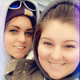 Korisa Miller (right) and Melissa Kozlowski (left) take a selfie on Jan 27 before ice fishing at Beacon Cove Marina.