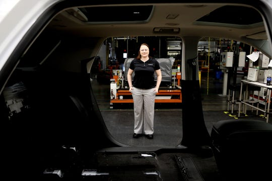 Corinne Peltier runs the Work-Fit program at the Lansing Delta Township Assembly Plant.