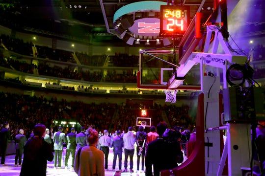 Nebraska and Michigan note the passing of Kobe Bryant before the game.