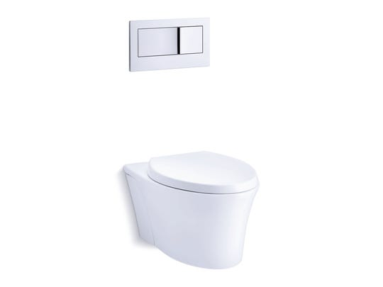 Wall-hung toilets hang on a strong harness inside the wall.