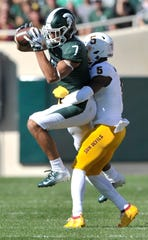 Cody White led Michigan State with 66 catches for 922 yards and six touchdowns last season.