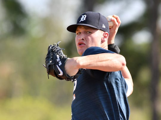 Tigers pitching prospect Matt Manning turned in an impressive season at Double-A Erie in 2019: 2.56 ERA, 0.98 WHIP in 133.2 innings, with a .192 opposing batting average, as well as 148 strikeouts and 37 unintentional walks.