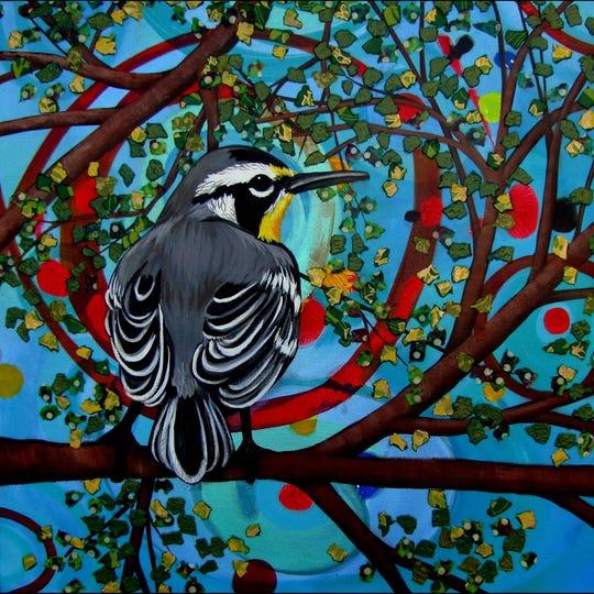 A mixed-media piece by ArtFest Fort Myers artist Marirosa Hofmann
