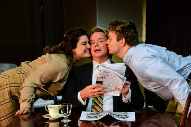 """A scene from Players Circle Theatre's """"The Dining Room"""""""