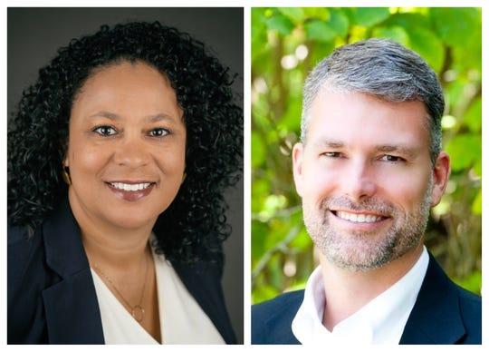 Green Bay School District superintendent candidates Sonia Stewart and Stephen Murley.