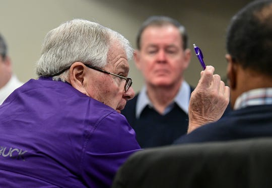 John Fulmer, resident and Build a Better Clemson member, speaks during the masterplan steering committee meeting in Clemson Wednesday. The group discussed hiring a third-party consultant growth at a meeting in the Clemson City Hall.