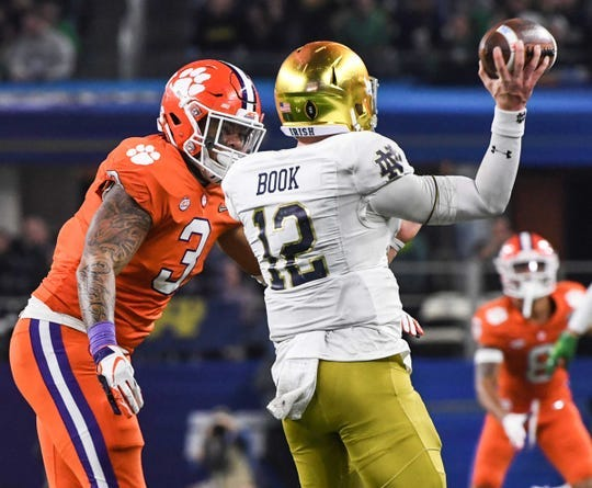 Clemson and Notre Dame will play for the second time in three years on Nov. 7 in South Bend, Indiana.