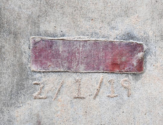 A brick from the Y Beach Barn, destroyed in a fire Februaryt 1, 2019, is part of the flooring at the Andy Quattlebaum Outdoor Education Center of the Clemson University Campus Recreation Center, YMCA Circle, Seneca in January 2020.