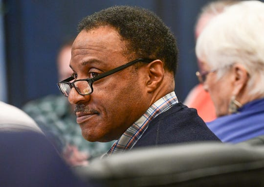 Dr. Kenneth Robinson, Clemson University professor, listens during the masterplan steering committee meeting in Clemson Wednesday. The group discussed hiring a third-party consultant growth at a meeting in the Clemson City Hall.