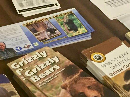 Information on grizzly bears was on display Wednesday at the Grizzly Bear Information Outreach Summit in Helena.