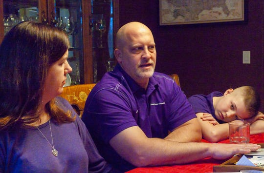 Cheryl, Rob Wegener and son, Matthew, talk about the life of Madison Wegener and her fatal battle with pulmonary hypertension at their Hamburg Township home Tuesday, Jan. 28, 2020.