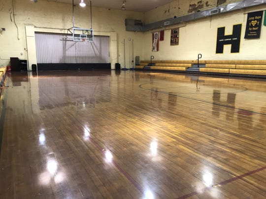 This is the gym where Wayne Oakley scored a state-record 114 points in a game in 1954. The gym is now a part of Hanson Elementary in Hanson, Ky.