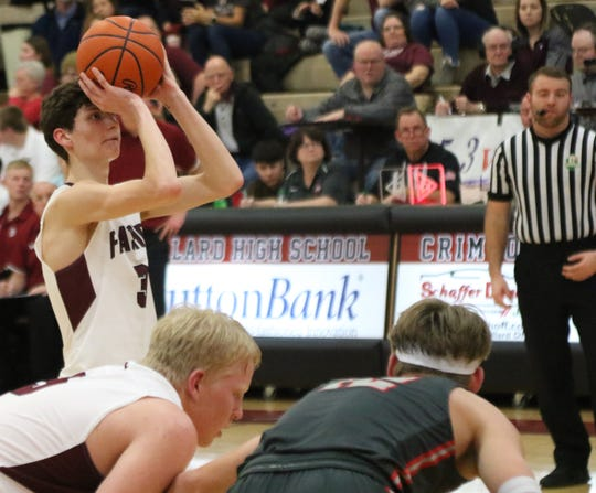 Willard's Terry Baldridge scored 24 points in the Flashes' 78-73 comeback win over Shelby.