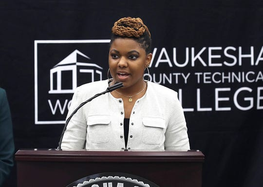 Maricha Harris, a former student, shared her story of the challenges of overcoming student debt.