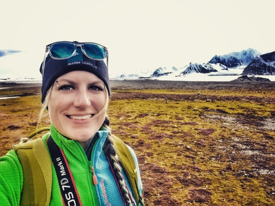 Julie Theim, an elementary art teacher at Rolling Hills Elementary School in Mukwonago, snaps a selfie in Svalbard, a Norwegian archipelago halfway between Norway and the North Pole. Theim, a National Geographic Certified Educator, went on the trip in 2018 as part of a Grosvenor Teacher Fellowship, a professional development opportunity for educators made possible by a partnership between Lindblad Expeditions and the National Geographic Society.