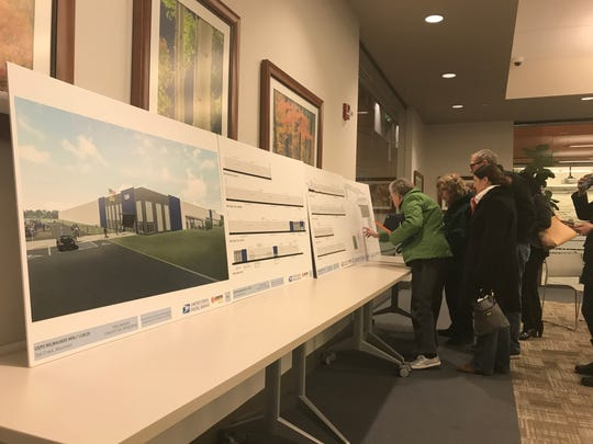 Residents were able to view renderings of the proposed mail processing annex at 2201 E. College Ave. in Oak Creek during a public hearing organized by the Wisconsin Department of Natural Resources on Jan. 28 in the Oak Creek Library. Officials in Oak Creek and South Milwaukee have been critical of the U. S. Postal Service's lack of communication and collaboration on the project.
