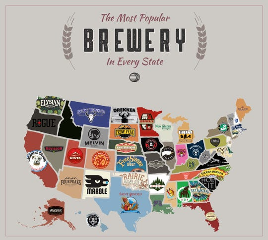 House Method used numbers to determine the top breweries in each state. Cheers to New Glarus.