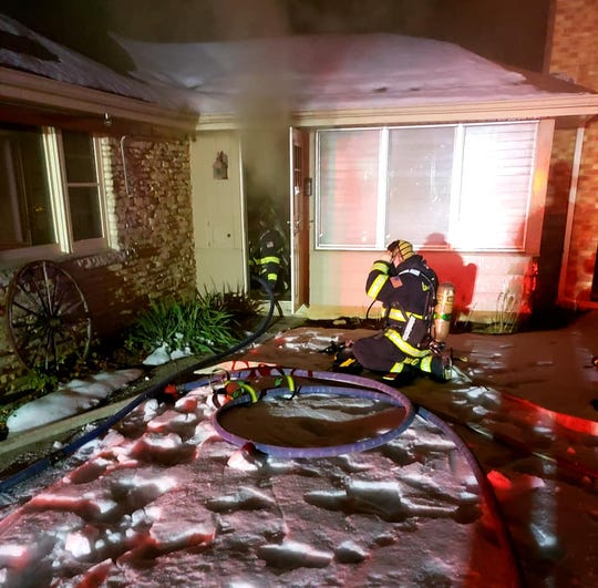 No one was injured in a house fire in Grafton on Tuesday, Jan. 28.