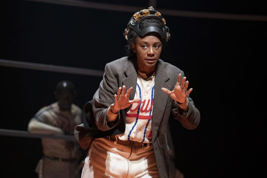 """The off-Broadway production of """"Toni Stone"""" featured April Matthis as the first female player in Negro Leagues baseball. Milwaukee Repertory Theater plans to stage the play during its 2020-'21 season."""