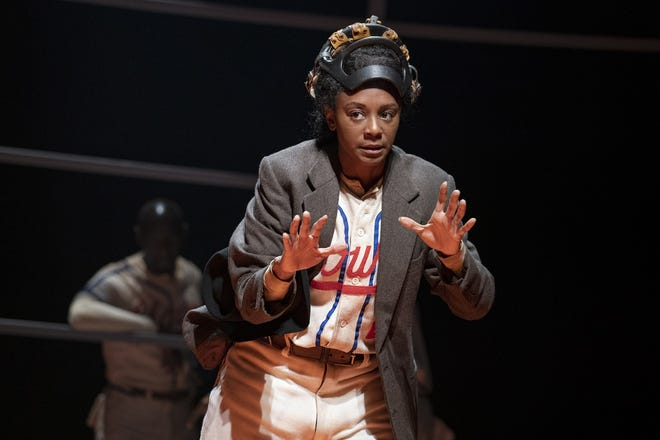 "The off-Broadway production of ""Toni Stone"" featured April Matthis as the first female player in Negro Leagues baseball. Milwaukee Repertory Theater plans to stage the play in January 2022."