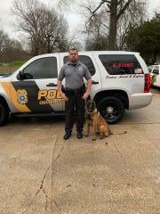 Sgt. Craig Frasier and K-9 Nero